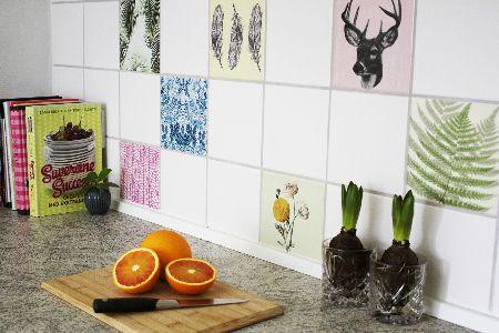 Forny dit køkken med kulørte flisestickers fra Home Junkie
