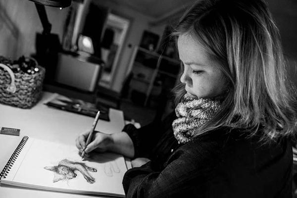Bettina Lehmann  fra Draw Doodles Study står bag den skønne flisepynt med dyremotiver.