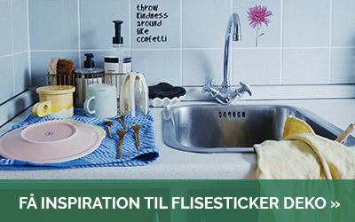 Find inspiration til at dekorere dit køkken og bad med vores fine flisestickers