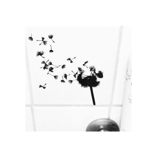 Pusteblume schwarz durchsichtiger fliesenaufkleber for Fliesenaufkleber schwarz
