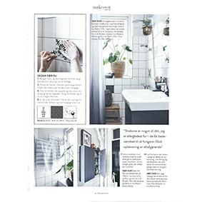 Bolig Magasinet - Badeværeslses makeover med flise dekoration fra Tile Junkie
