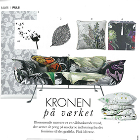 Mad & Bolig - Tile Junkies blomster stickers pynter blandt botanik