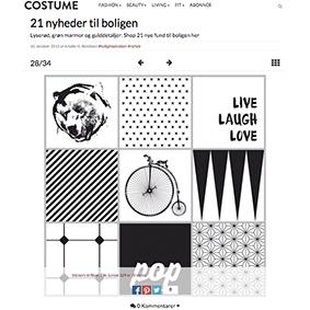 21 nyheder til boligen - Ifølge COSTUME er flise stickers fra Tile Junkie én af dem