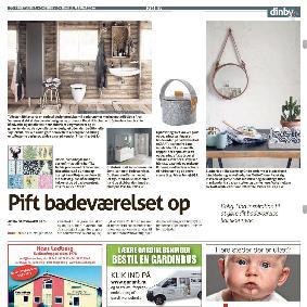 Ugeavisen Ringkøbing - Pift badeværelset op - Kulørte klistermærker til fliser fra danske Home Junkie