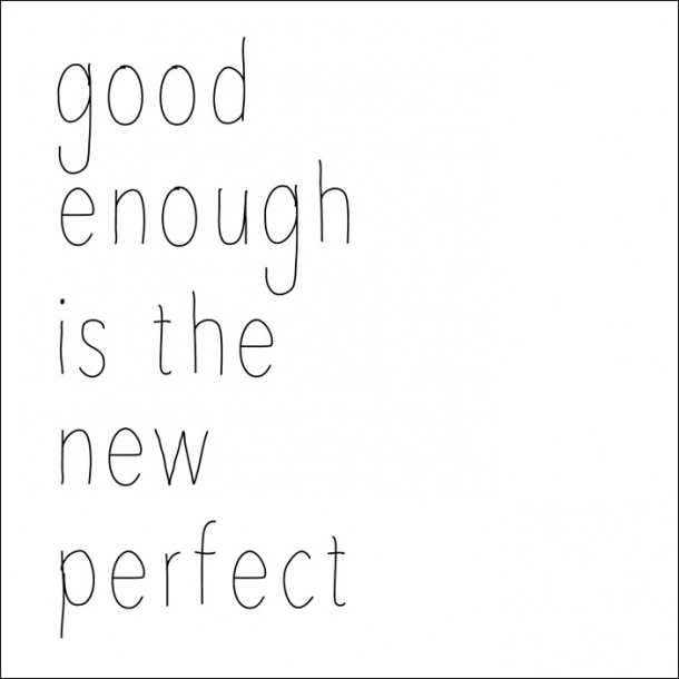 Good enough… - Sort - Gennemsigtig sticker 15x15 cm