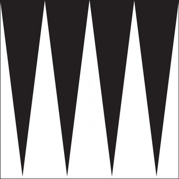 Spitze Deiecke - Schwarz - Durchsichtiger Fliesenaufkleber 15x15 cm