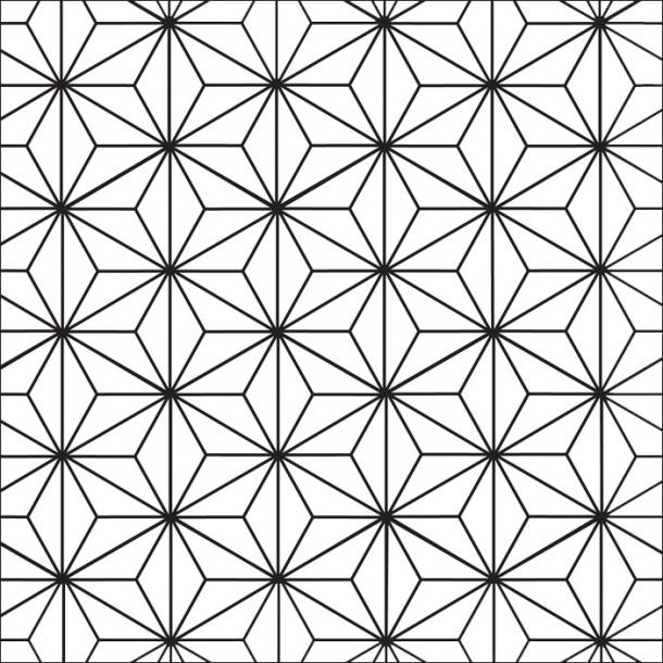 Sternen Muster - Schwarz- Durchsichtiger Fliesenaufkleber 15x15 cm