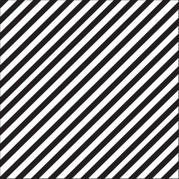 Streifen - Schwarz - Durchsichtiger Fliesenaufkleber 15x15 cm