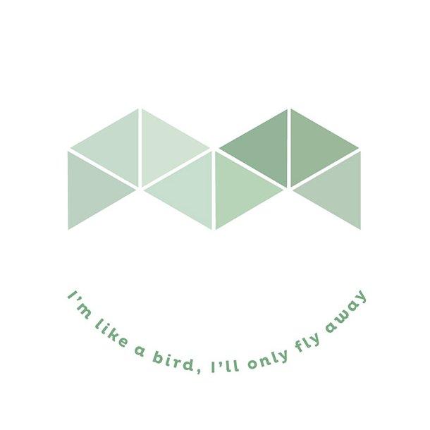 I'm like a bird - Flisesticker 15x15 cm - Gennemsigtig folie