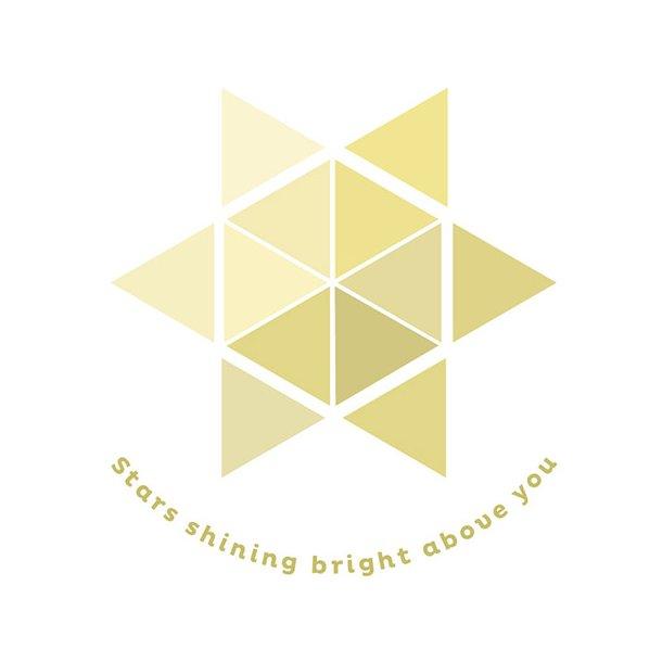 Stars shining bright... - Flisesticker 15x15 cm - Gennemsigtig folie