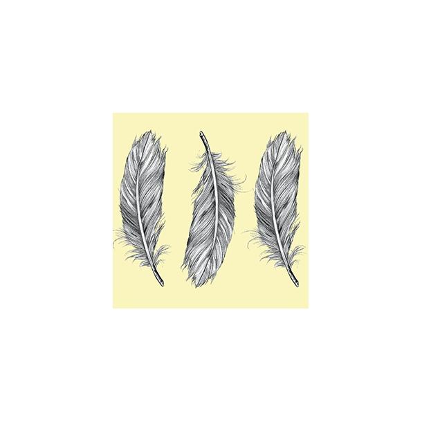 Federn by Dims - Durchsichtiger Fliesenaufkleber 15x15 cm