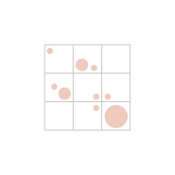 Dots æske - rosa