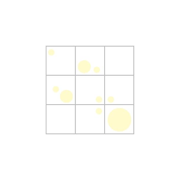 Dots æske - gul