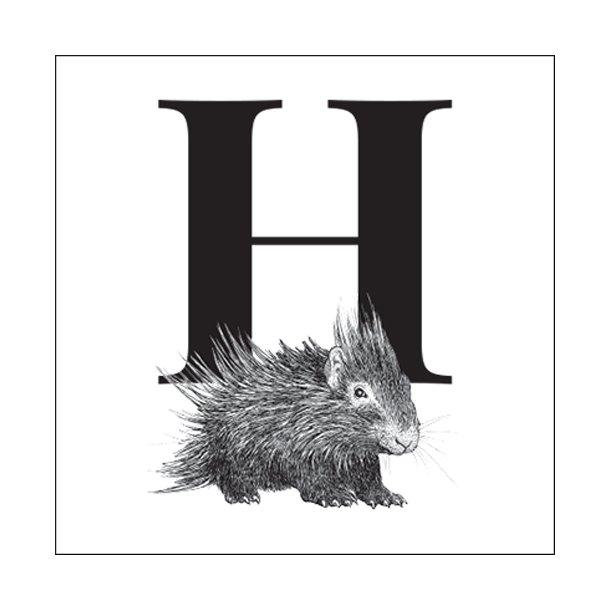 H - Gennemsigtig sticker 15x15 cm
