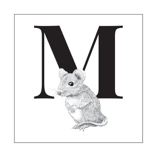 M - Gennemsigtig sticker 15x15 cm