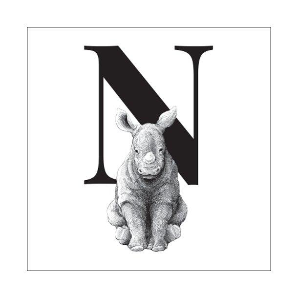 N - Gennemsigtig sticker 15x15 cm