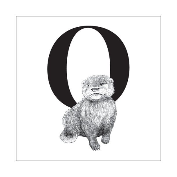 O - Gennemsigtig sticker 15x15 cm