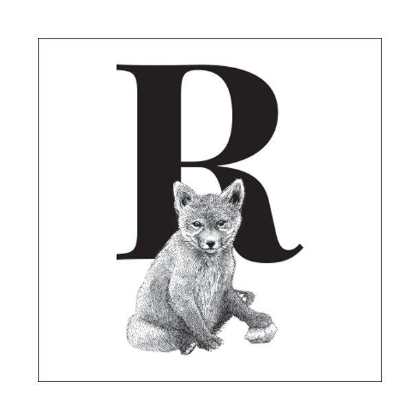 R - Gennemsigtig sticker 15x15 cm
