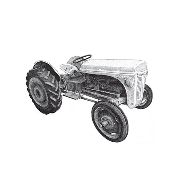 Traktor - Durchsichtiger Fliesenaufkleber 15x15 cm