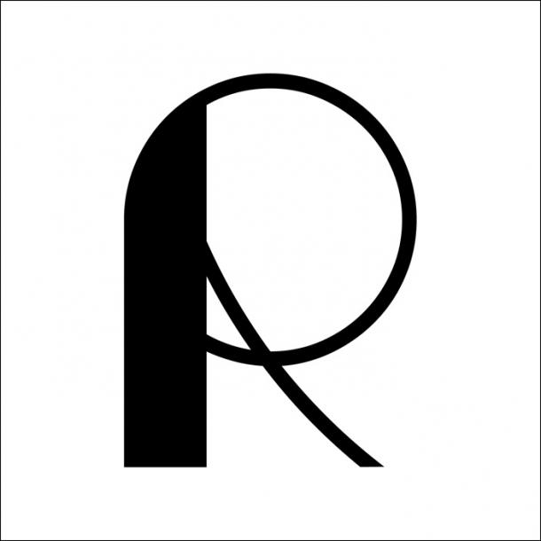R - Schwarz - Durchsichtiger Fliesenaufkleber 15x15 cm