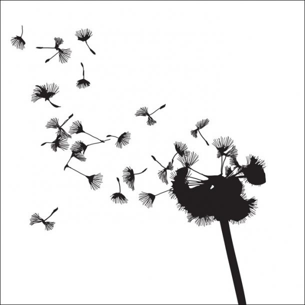 Pusteblume - Durchsichtiger Fliesenaufkleber 15x15 cm