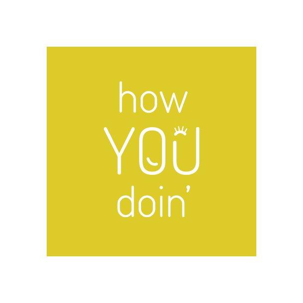 How you doin - Friends - Gennemsigtig sticker 15x15 cm