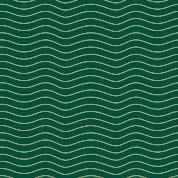 Mørkegrønne bølger - Flisesticker 15x15 cm - Heldækkende folie