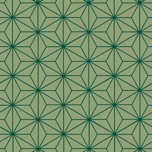 Sternen Muster - Grüner Mix - Deckende Fliesenaufkleber 15x15 cm
