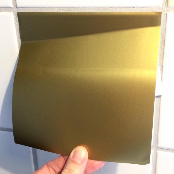 Brass Foil - Full Coverage sticker 15x15 cm