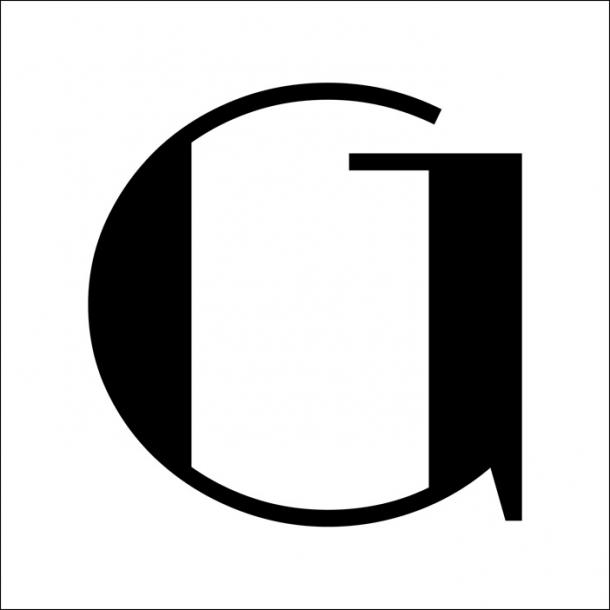 G - Sort - Gennemsigtig sticker 15x15 cm