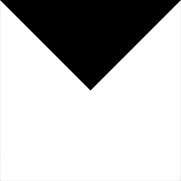 Großes Dreieck - Schwarz - Durchsichtiger Fliesenaufkleber 15x15 cm
