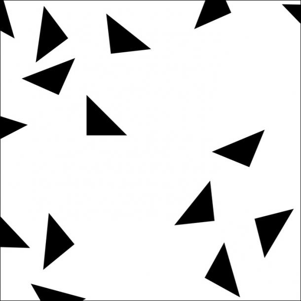 Dreieckiger Konfetti - Schwarz - Durchsichtiger Fliesenaufkleber 15x15 cm