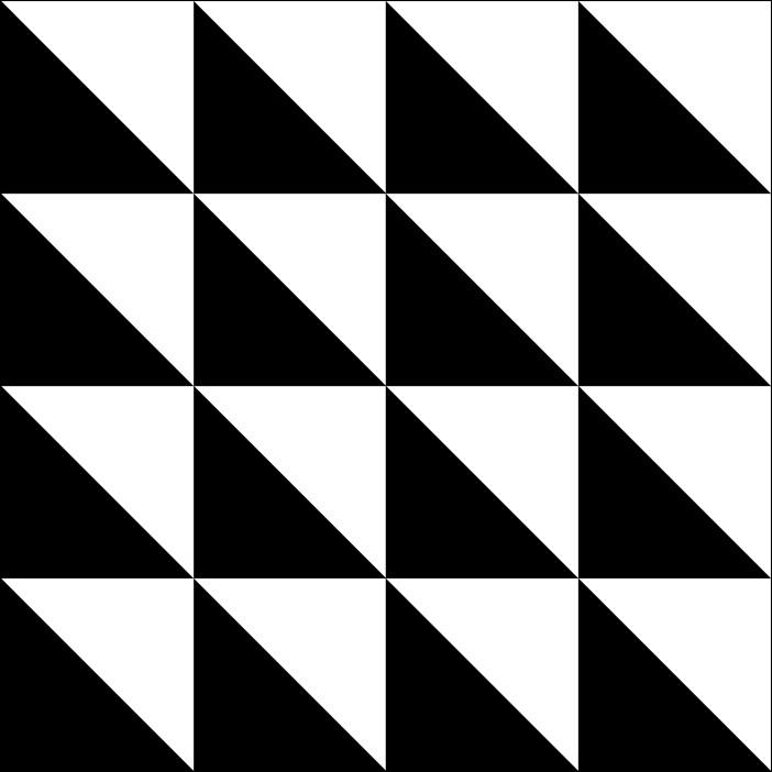 Dreieckiges muster schwarz durchsichtiger for Fliesenaufkleber schwarz