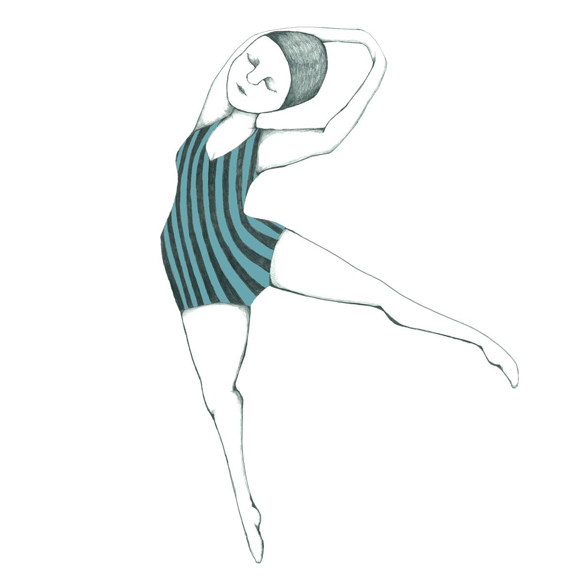 Dans - flisesticker med motiv af Kirstine Falk