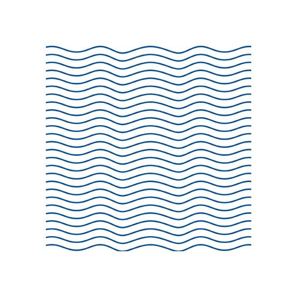 Bølger - Blå - Gennemsigtig sticker 15x15 cm