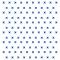 Korssting - Blå - Gennemsigtig sticker 15x15 cm