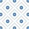 Kleine Blumen - Blau - Deckender Fliesenaufkleber 15x15 cm