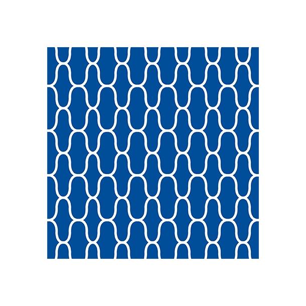 Netz - Blau - Deckender Fliesenaufkleber 15x15 cm