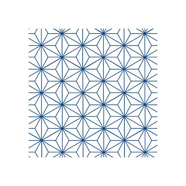 Stjerne Mønster - Blå - Gennemsigtig sticker 15x15 cm
