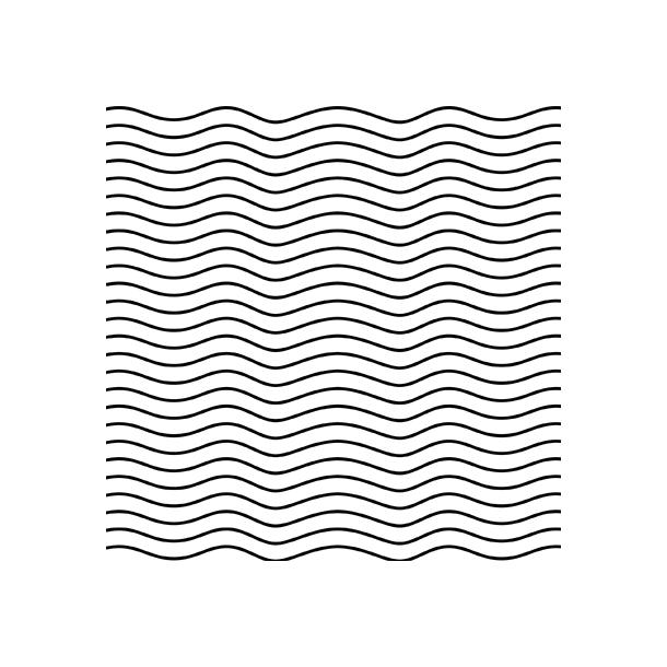 Sorte bølger - Flisesticker 15x15 cm - Heldækkende folie