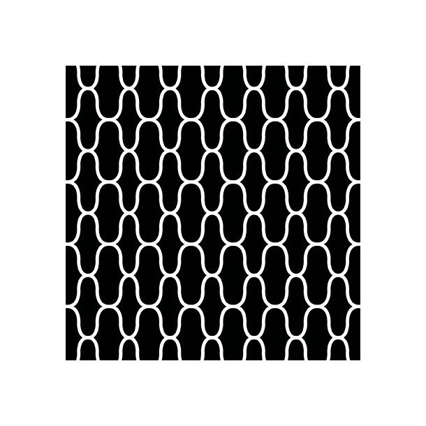 Net - Sort - Heldækkende sticker 15x15 cm
