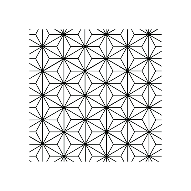 Sternen Muster - Schwarz - Deckender Fliesenaufkleber 15x15 cm