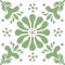 Blume - Grün - Durchsichtiger Fliesenaufkleber 15x15 cm