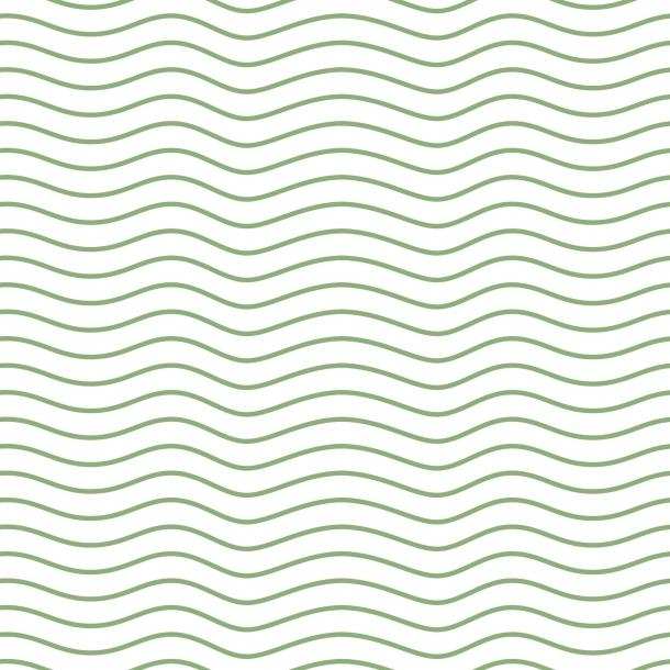 Bølger - Grøn - Gennemsigtig sticker 15x15 cm