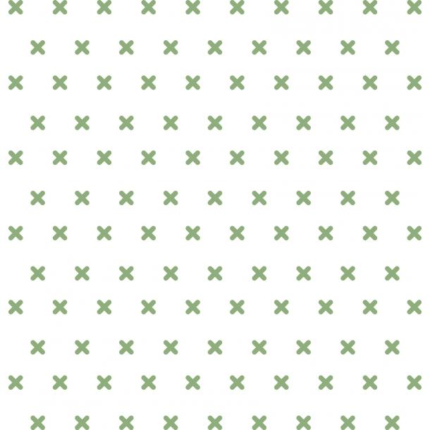 Kreuzstich - Grün - Durchsichtiger Fliesenaufkleber 15x15 cm