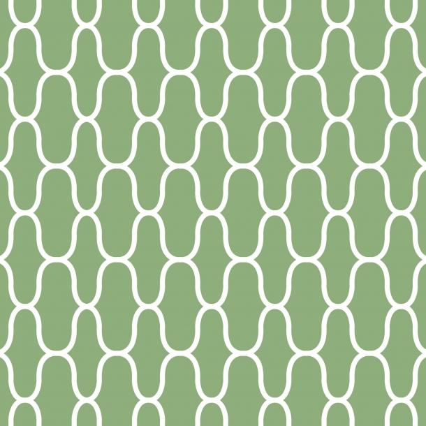 Netz - Grün - Durchsichtiger Fliesenaufkleber 15x15 cm