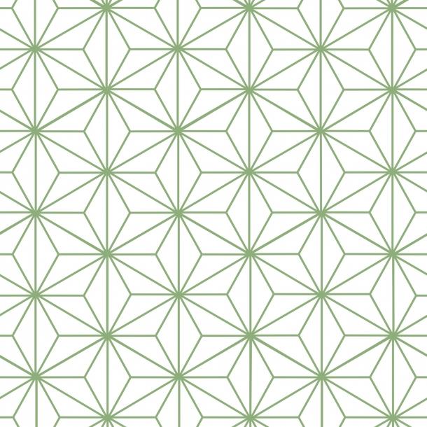 Sternen Muster - Grün - Durchsichtiger Fliesenaufkleber 15x15 cm